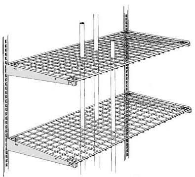 Madix Wire Grid Shelves and Shelving